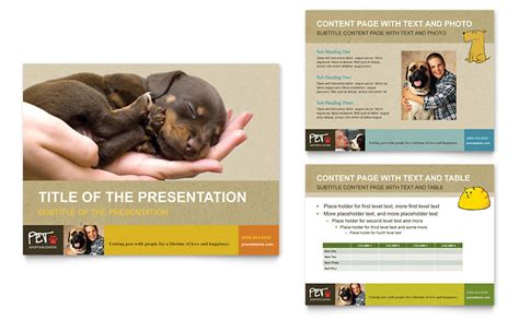 shelter template card animal shelter pet adoption powerpoint presentation