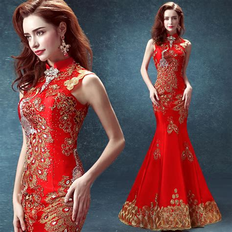Wedding Qipao by Cheongsam Dress Mermaid Traditional Dress Designs