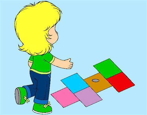 dibujos de niños jugando rayuela 61 free dibujo de nena saltando on coloringandewe download
