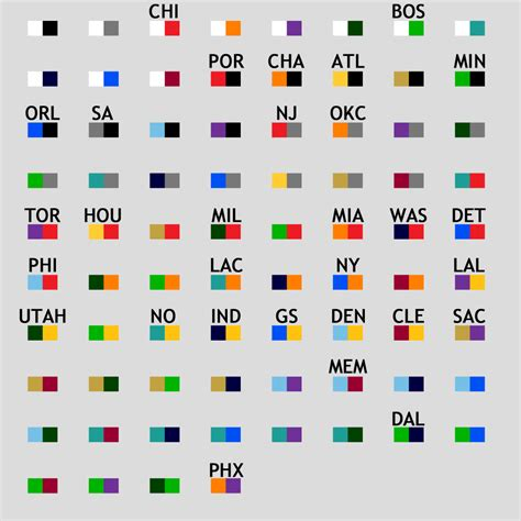 basketball team colors nba team colors gallery