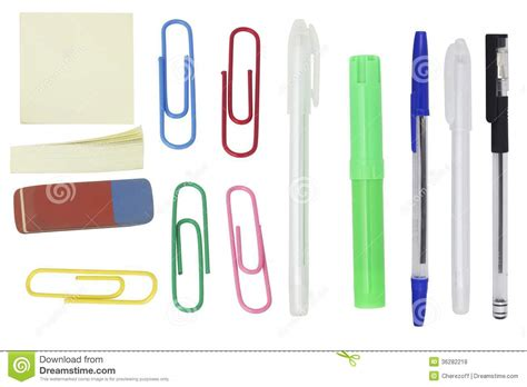 Paper Supplies - office supplies royalty free stock photos image 36282218