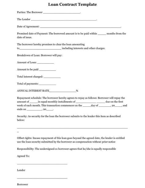 Free Printable Personal Loan Agreement Form New Simple Interest Loan Agreement Template Co Simple Interest Loan Template