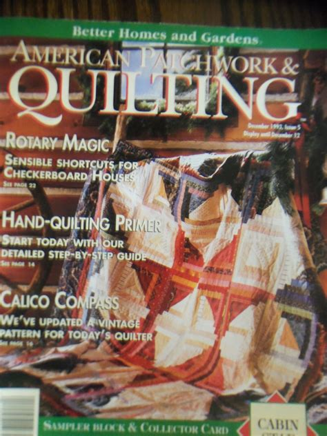 American Patchwork And Quilting Magazine Back Issues - american patchwork quilting december 1993 issue 5 back