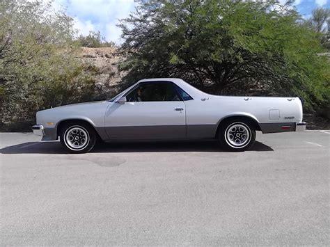 1987 el camino 1987 chevrolet el camino rust free silver arizona car