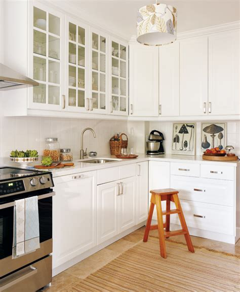 White Corner Kitchen Cabinet by Chic White Kitchens For 2014