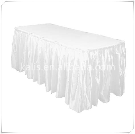 banquet table skirting modern table skirt satin hotel