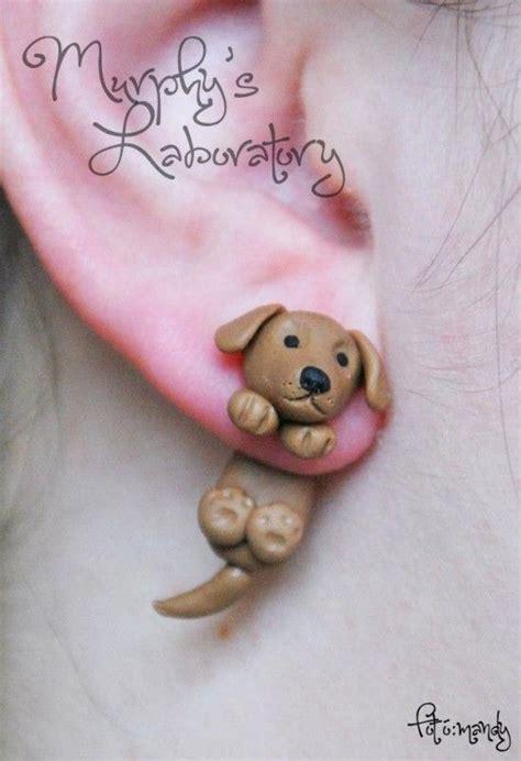 dogs with earrings earrings polymer clay masa cold porcelain masa francesa porcelana