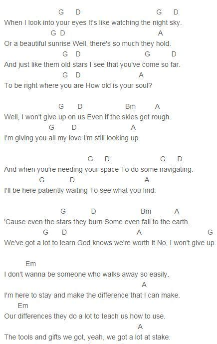 pattern up properly lyrics jason mraz i won t give up chords capo 2 music