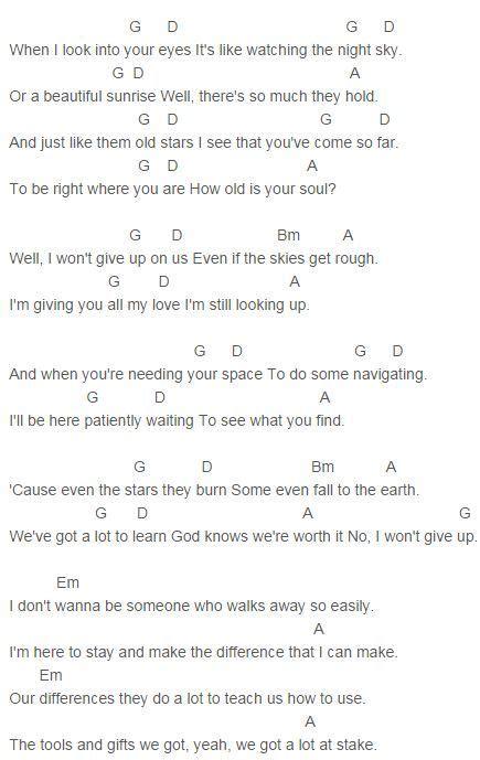 pattern up lyrics jason mraz i won t give up chords capo 2 music