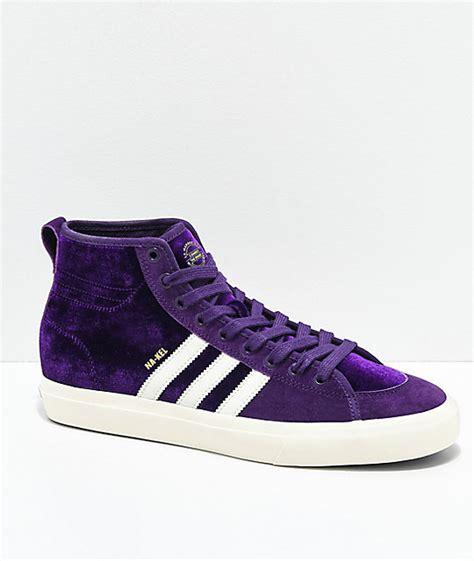 adidas matchcourt  rx nakel purple shoes zumiez