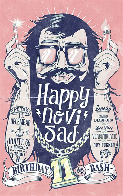 happy birthday graphic design inspiration illustrations and letterings by marko purac
