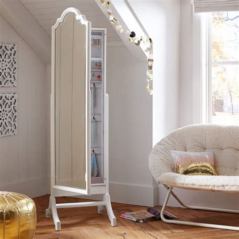 Floor Jewelry Mirror by Jewelry Storage Floor Mirror Pbteen