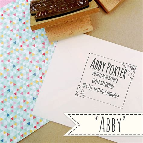 address rubber st personalised address rubber st by the posy print