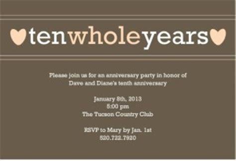 10 year business anniversary invitation wording 10th year wedding anniversary quotes quotesgram