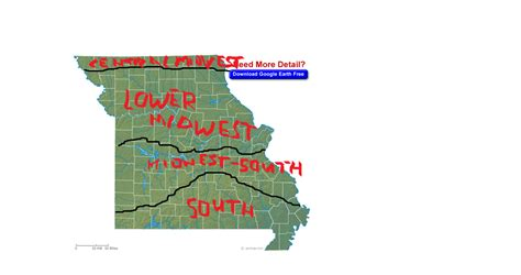 map of southern missouri where in missouri does the south begin st louis