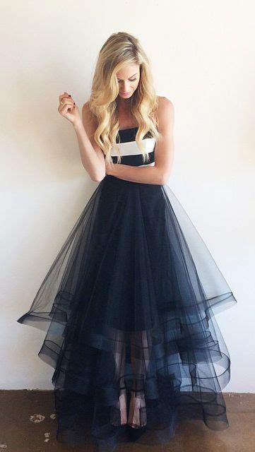 elegant white navy blue high  prom dressesstrapless