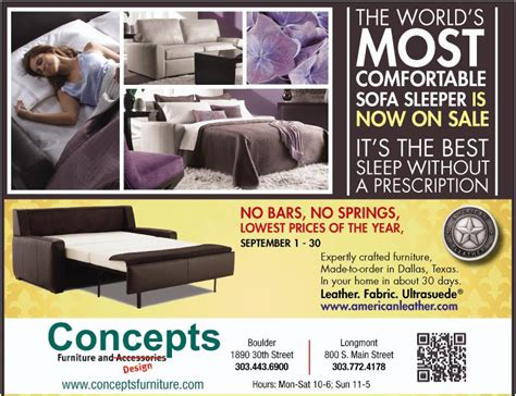 Comfort Sleeper Sale by American Leather Comfort Sleeper Sale Concepts Furniture