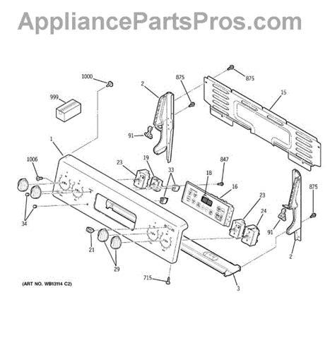 ge range parts diagram ge wb27t11311 oven board appliancepartspros