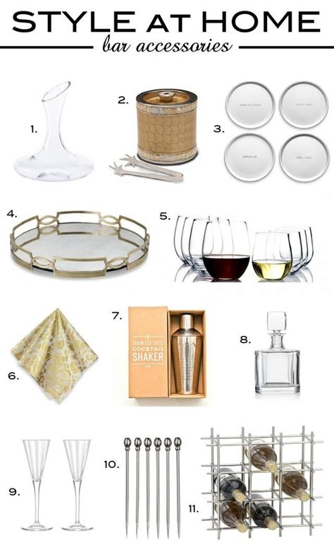 25 best ideas about home bar accessories on