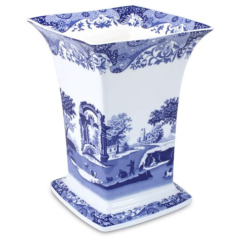 Blue Square Vase by Spode Blue Italian Square Vase S Of Kensington