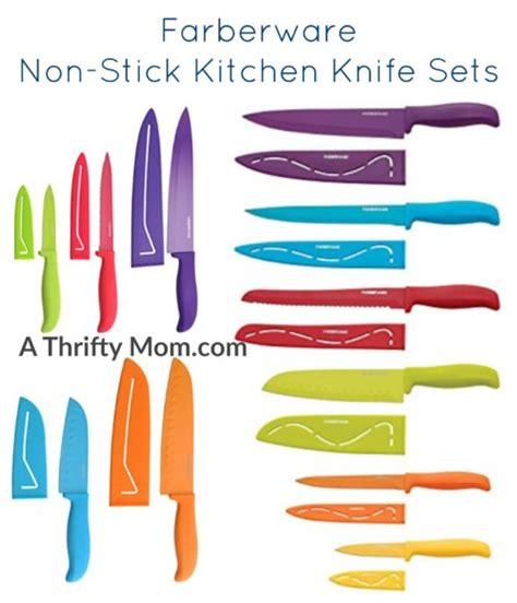 Farberware Kitchen Knives farberware stick resistant cutlery sets