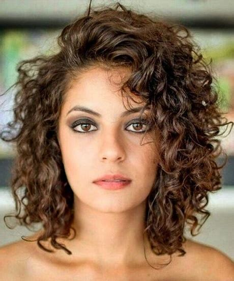 hairstyles with slight curls curly medium length hairstyles 2018