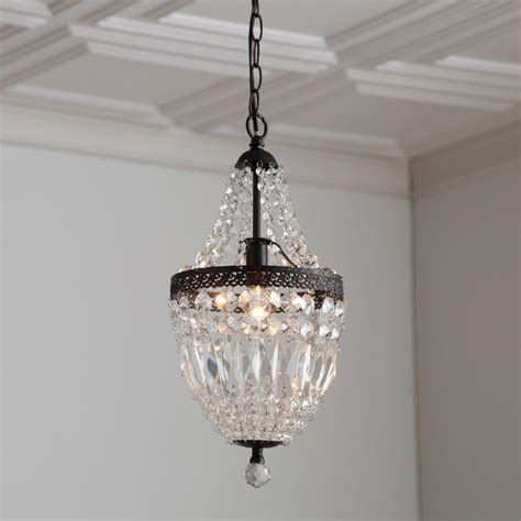 How To Make A Mini Chandelier Bronze Mini Chandelier With Crystals Light Fixtures Design Ideas