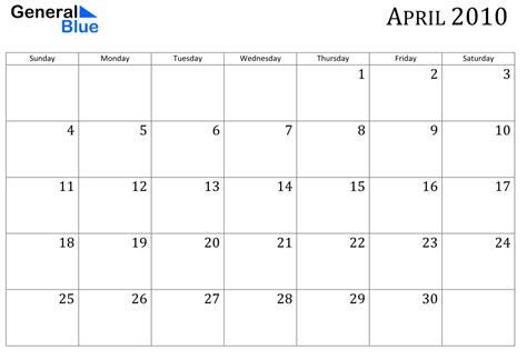 April 2010 Calendar The Schedule In My Herding Cats In Hammond River