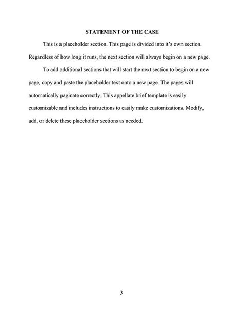 appellate brief template word an appellate brief template for word