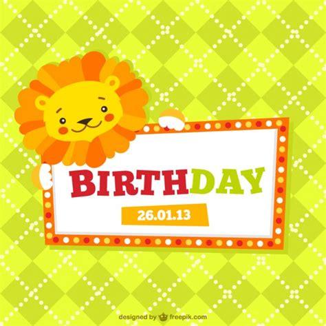 imagenes para cumpleaños bebes invitaci 243 n de cumplea 241 os para ni 241 os descargar vectores