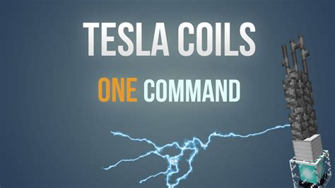 Minecraft Tesla Coil Minecraft Tesla Coils In Only One Command Block