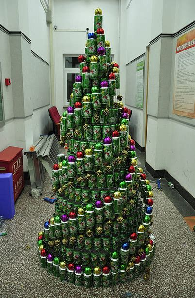 best 28 christmas tree made of cans how to make a soda