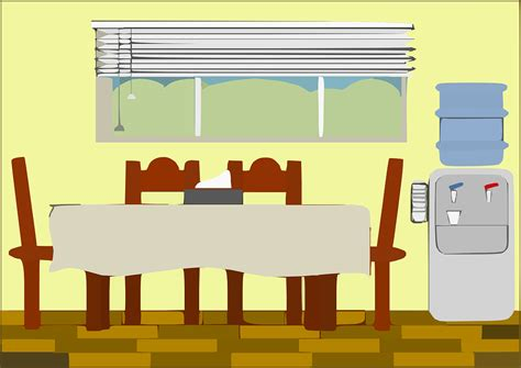 the room free free vector graphic dining room house room furniture free image on pixabay 294624