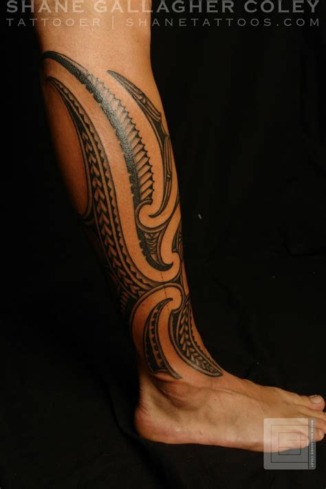 calf tribal tattoo polynesian tattoos maori polynesian fusion calf