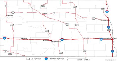 nd road map map of dakota cities image search results