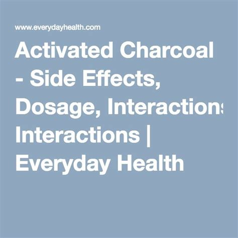 activated charcoal dosage ideas  pinterest