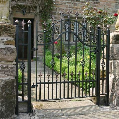 simple  inexpensive metal single side entrance wrought