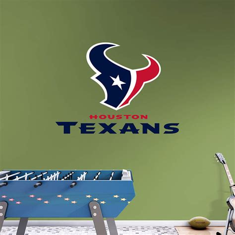texans wall decor houston texans logo transfer decal wall decal shop