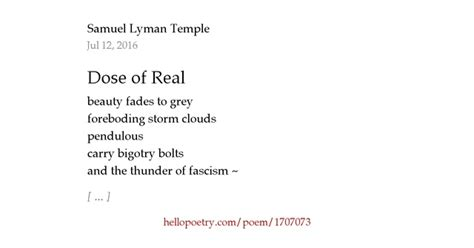 A Dose Of Reality 2 by Dose Of Real By Sam Temple Hello Poetry