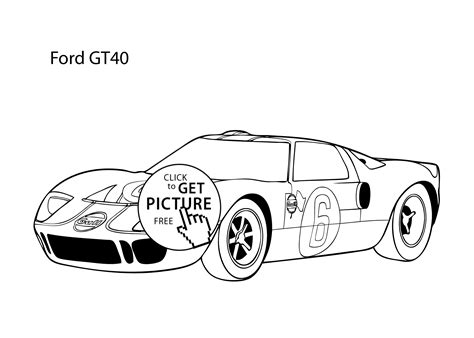 free coloring pages of cool cars super car ford gt40 coloring page cool car printable free