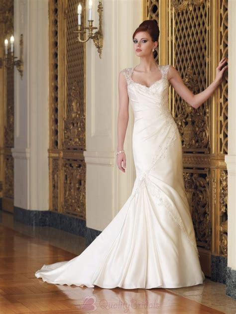 beaded cap sleeve gown getting modest look with beaded wedding dresses with