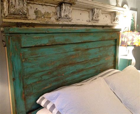 King Size Wood Headboard Distressed Size Headboard Turquoise Size
