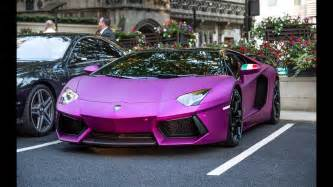 Pink And Purple Lamborghini Purple Lamborghini Aventador Lp760 Vs Blue Lamborghini