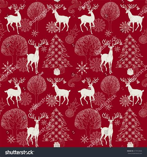 christmas paper pattern vector christmas and new year red festive background xmas