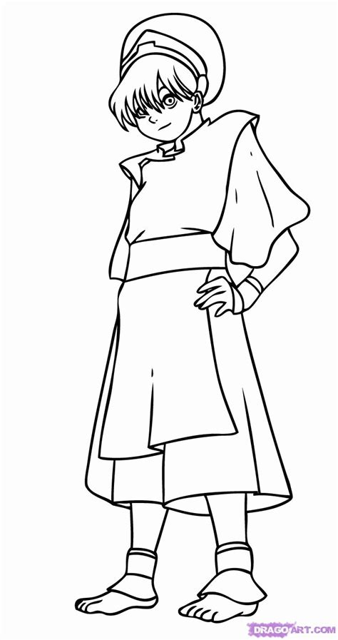 coloring pages avatar characters avatar the last airbender katara coloring pages to print