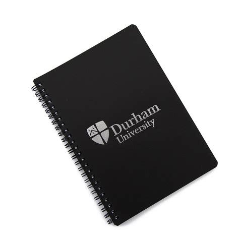 Green Recycled Polypropylene A5 Wiro Notebook - a5 polyprop wiro notebook black at durham