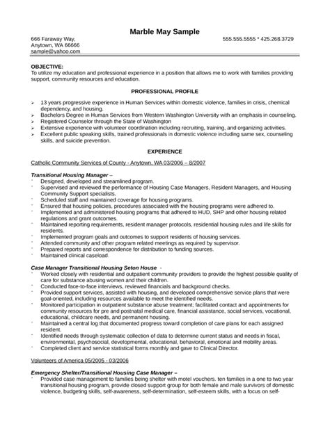 Basic Case Manager Resume Template