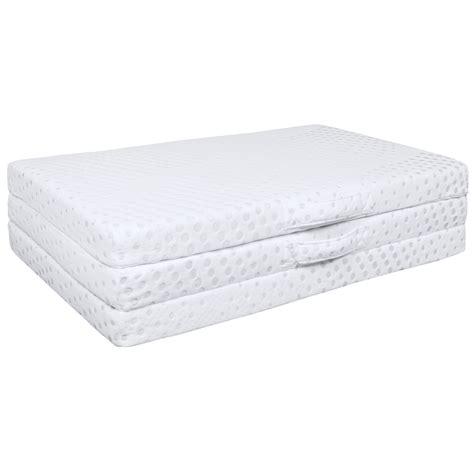 1 Floor Mattress - portable 3 quot tri folding gel memory foam floor mattress