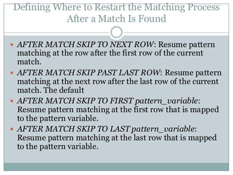 pattern matching oracle sql for pattern matching oracle 12c