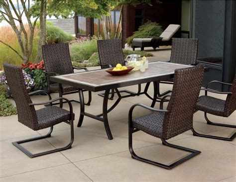 Patio Dining Sets Clearance Cast Aluminum Patio Furniture At Costco Roselawnlutheran